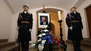 Lễ tang cố Tổng thống Cộng hòa Séc Vaclav Havel tại lâu đài Praha, ngày 18/12/2011.
