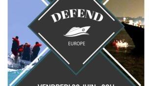 """O lema: """"Defend Europe"""", ou seja, defender a Europa da chegada de migrantes. O principal objetivo é bloquear a ação dos navios das Ongs que salvam vidas no mar mediterrâneo."""