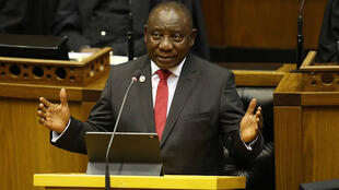 President Cyril Ramaphosa delivers his state of the nation address in Parliament, Cape Town on Thursday, June 20 2019.jpg