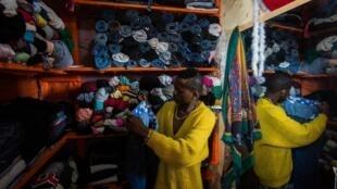 Une boutique de vêtements à Kigali.