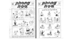 Bìa tuần báo Phong Hóa, số 181 và 184.