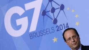 France's President Francois Hollande at the news conference on Wednesday