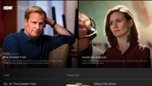 Capture d'écran du site internet de la série télévisée « Newsroom », diffusée sur HBO.