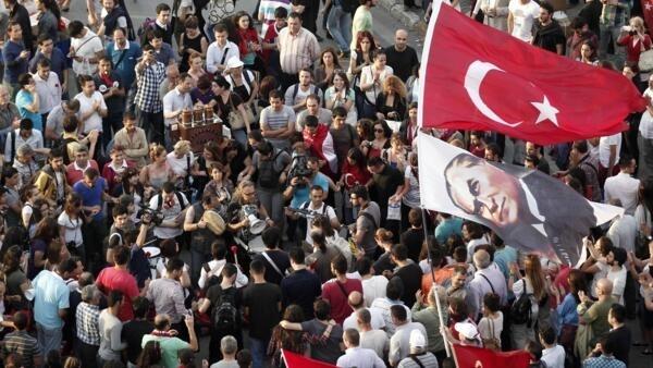 Place de Taksim, à Istanbul, le 5 juin 2013.