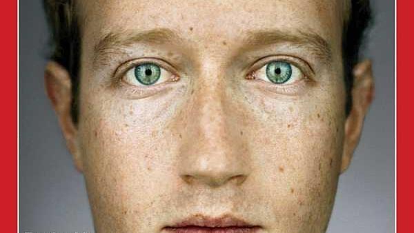 Porta de la revista Time con Mark Zuckerberg como la personalidad del año.