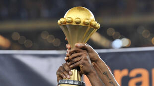 Le trophée remis au vainqueur de la CAN 2017.