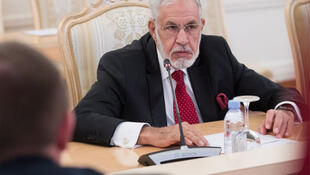 Mohamad Taha Siala, ministre libyen des Affaires étrangères. Ici à Moscou, le 12 décembre 2017.