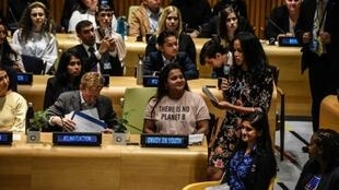 Des jeunes du monde entier dans les locaux de l'ONU pour porter le combat sur le climat.