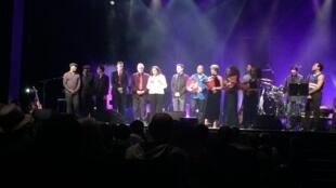Concerto de homenagem a Cesária Évora em Paris, no teatro Ruteboeuf.