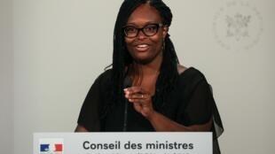 Sibeth Ndiaye, au palais présidentiel de l'Elysée, à Paris, le 21 août 2019.