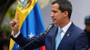 Venezuelan opposition leader Juan Guaido, who many nations have recognised as the country's rightful interim ruler, takes part in a gathering with supporters in Caracas, Venezuela, April 19, 2019.