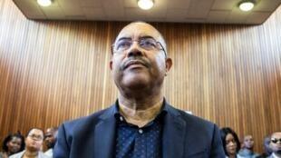 Manuel Chang, ex ministro moçambicano das finanças, no tribunal de Kempton Park em joanesburgo a 8 de Janeiro de 2019.