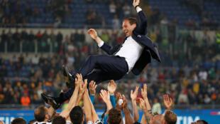 Massimo Allegri's Juventus won the Coppa Italia for the fourth consecutive year.