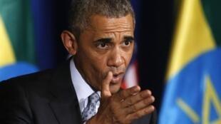 Barack Obama ante la Unión Africana en Etiopía el 28 de julio del 2015.REUTERS/Jonathan Ernst