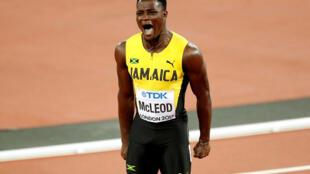Omar McLeod won the 110m hurdles at the Rio Olympics.
