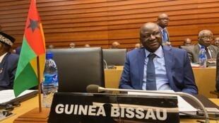 Primeiro-ministro guineense, Aristides Gomes, na cimeira da CEDEAO de Addis Abeba a 9 de Fevereiro de 2020.