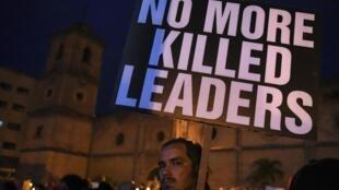 Des manifestations avaient eu lieu en juillet 2019 contre l'assassinat des leaders sociaux en Colombie. (photo d'illustration)
