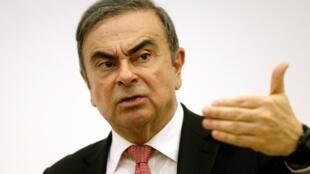 Former Nissan chairman Carlos Ghosn in Lebanon, 8 January 2020