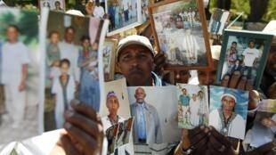 Os falashmoras, os judeus originários da Etiópia, em imagem de 2010.