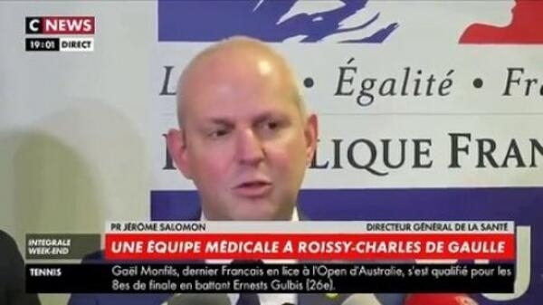 法國衛生部門負責人所羅門 (Jérôme Salomon) 宣布,法國武漢肺炎確診病例又增一例       2020年1月28日