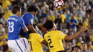 Brasil empató con Ecuador (0-0), este 4 de junio de 2016 en Pasadena, Estados Unidos.