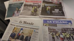 Diarios franceses  10.12.2018