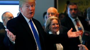 O presidente Donald Trump em Davos