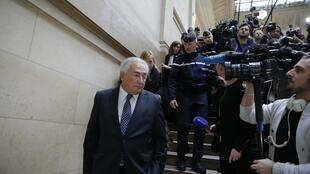 Dominique Strauss-Kahn leaves the Paris court on Tuesday