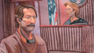 Croquis de l'audience lors de laquelle Viktor Bout comparaissait devant la juge Shira Scheindlin au tribunal fédéral de New York, le 17 novembre 2010.