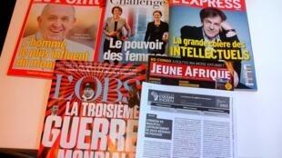 Imprensa Semanal francesa de 10 de outubro de 2015
