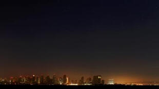 The city of San Diego in the dark following the power outage