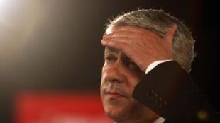 O ex-primeiro-ministro português José Sócrates, detido na sexta-feira (21) acusado de fraude fiscal e corrupção.