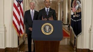 Discours d'Obama à la Maison Blanche, après l'annonce de l'accord sur le nucléaire iranien, le 14 juillet 2015.