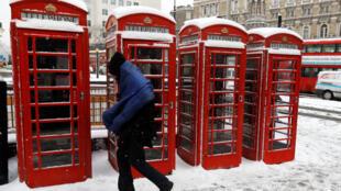 Снегопад в Лондоне, 28 февраля 2018.