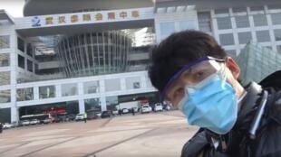Le journaliste chinois Chen Qiushi, ici dans une de ses vidéos postées sur YouTube, n'a plus donné signe de vie depuis le 6 février 2020.
