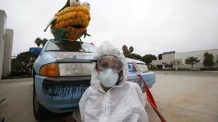 An anti-GM campaigner in California