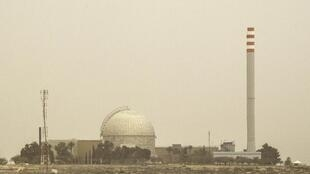 Vue partielle de la centrale nucléaire de Dimona en Israël.