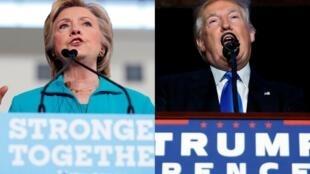 A democrata Hillary Clinton e o republicano Donald Trump tentam conquistar os eleitores da Flórida.