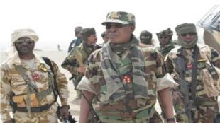 Shugaban Chadi Idriss Deby Itno tare da dakarunsa a fagen fafatawa da mayakan Boko Haram