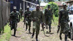 Congolese rebels of the newly formed Congolese Revolutionary Army (CRA) in the DRC town of Bunagana, 20 October, 2012