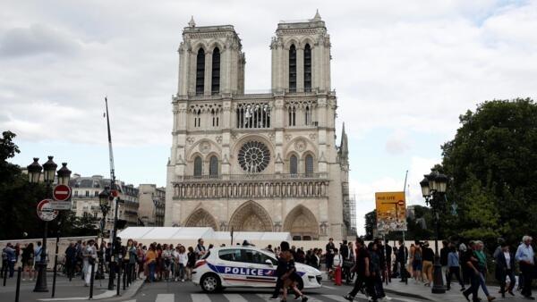 今年6月15拍攝的巴黎聖母院