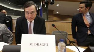O presidente do BCE, Mario Draghi, em reunião no Parlamento Europeu.