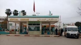 Marrocos: médicos se recusam a praticar teste de virgindade. Foto tirada em 4 de fevereiro de 2018 em frente ao hospital Hassani, na cidade marroquina de Nador.