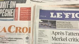Primeiras páginas dos diários franceses 23/12/2016