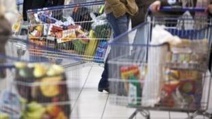 Un supermercado en Francia.