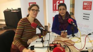 Déborah Cohen et Chaymaa Hassabo.