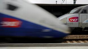 Imagen de un tren de alta velocidad de la compañía nacional francesa de ferrocarriles, la SNCF.