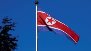 Drapeau de la Corée du Nord.