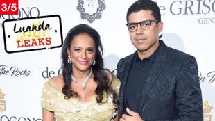 Isabel dos Santos et son mari Sindika Dokolo lors d'une soirée du Festival de Cannes en mai 2017.