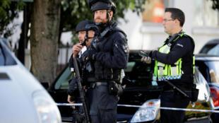 Nâng cấp báo động tối đa tại Luân Đôn. Trong ảnh: Cảnh sát tuần tra ở thủ đô nước Anh ngày 15/09/2017.